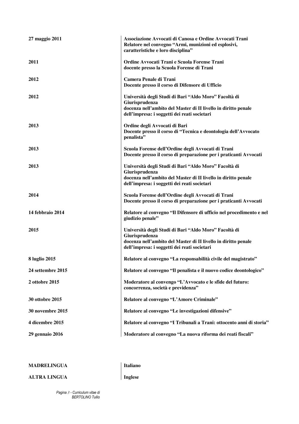 Curriculum Vitae Formato Europeo Pdf Ricerca Avvocato Cnf