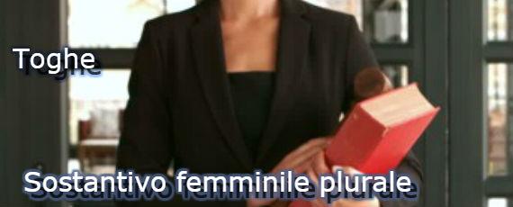 Toghe: sostantivo femminile plurale
