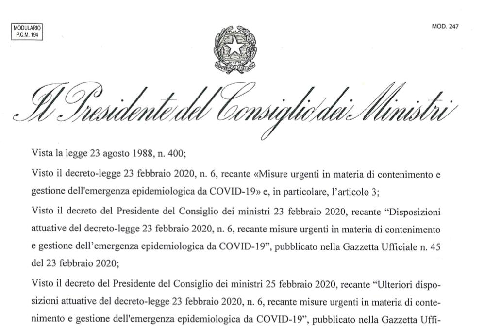 Coronavirus, il decreto del governo non sospende le attività professionali
