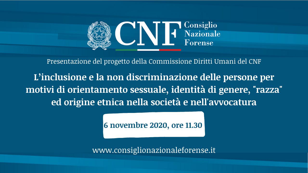 Diritti LGBTQI+, presentato a ministra Bonetti progetto CNF su inclusivita'