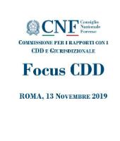 Focus CDD 2019